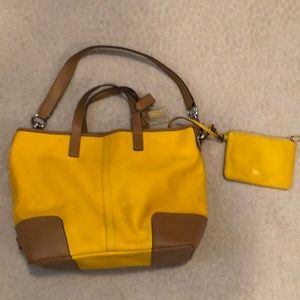 Coach bucket bag and wristlet
